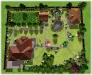 Ландшафтний дизайн, 3-D візуалізація вид зверху, Хотяновка