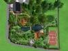 Ландшафтний дизайн, 3-D візуалізація вид зверху, Козин