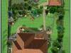 Ландшафтний дизайн, 3-D візуалізація вид зверху, Малютянка